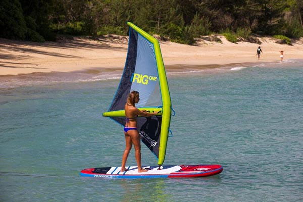 Gear Spotlight: Arrows Inflatable iRIG ONE SUP Windsurfing Rig